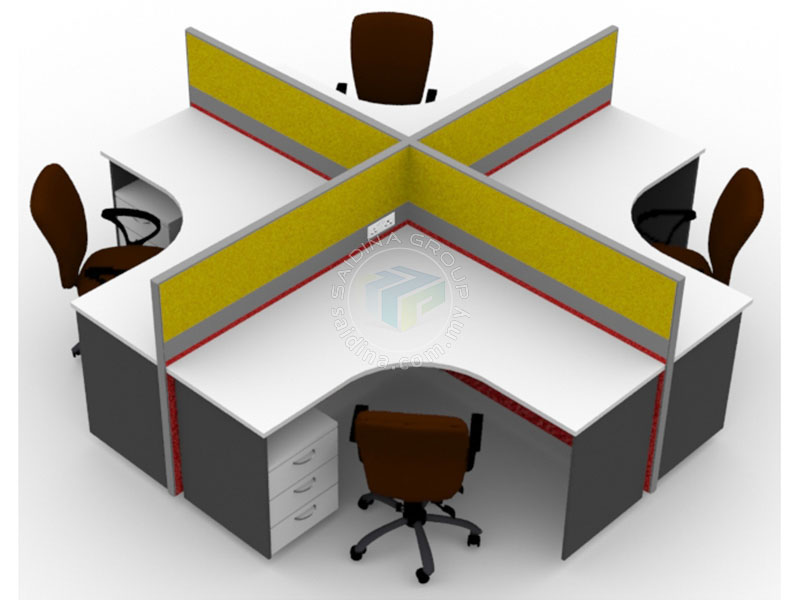 Workstation For Office Pembekal Partition Meja Pejabat