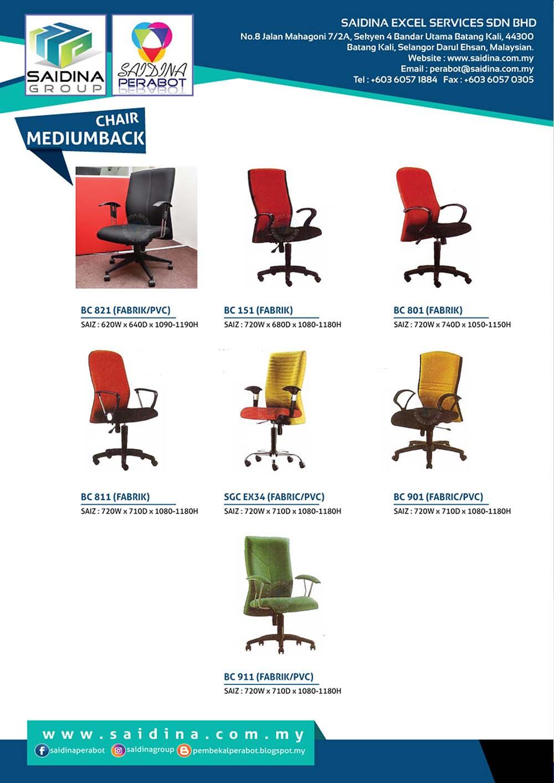 Pembekal Kerusi Eksekutif Mediumback Office Chairs Terus Dari Kilang